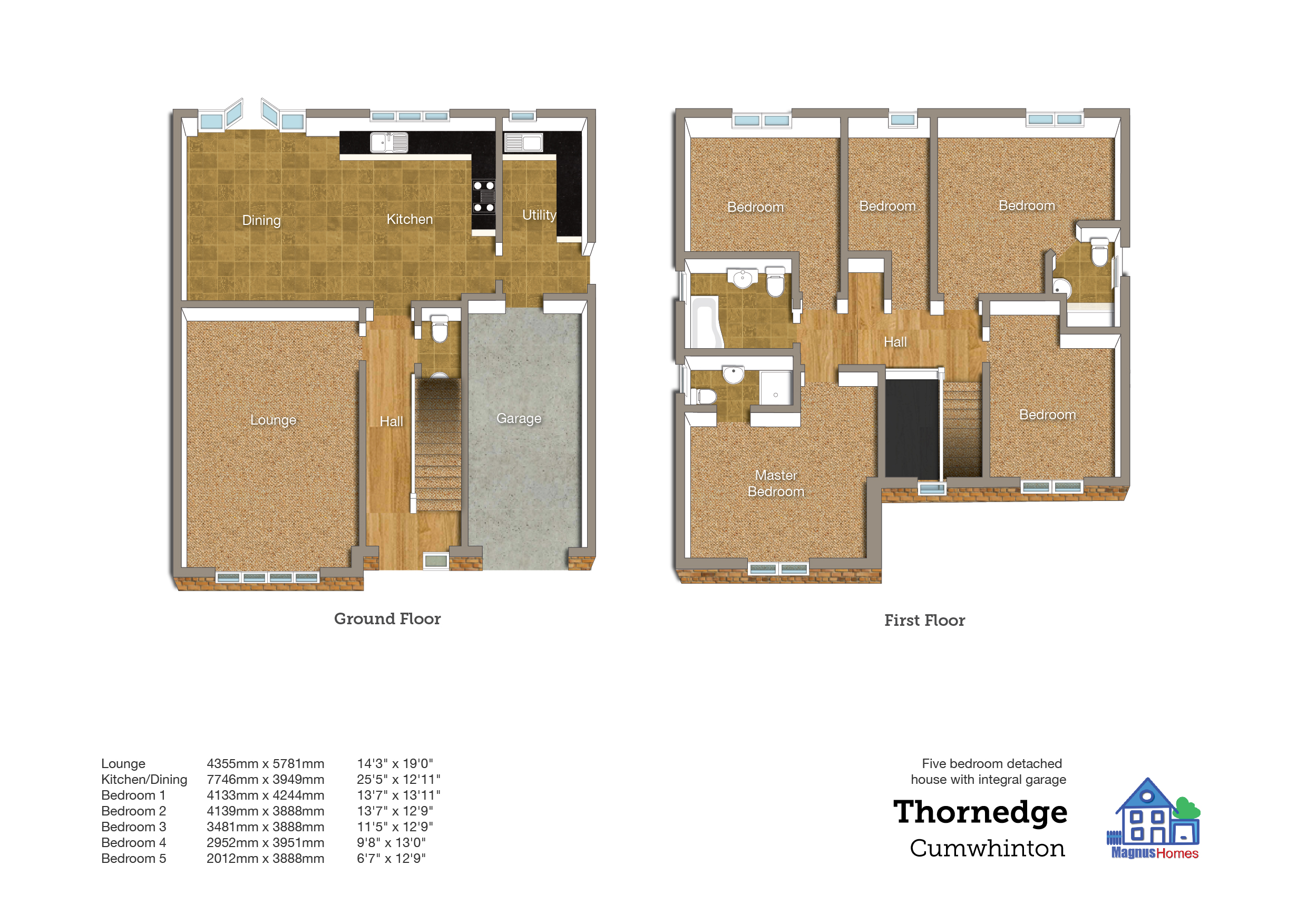 5 Bedroom Detached House With Integral Garage And